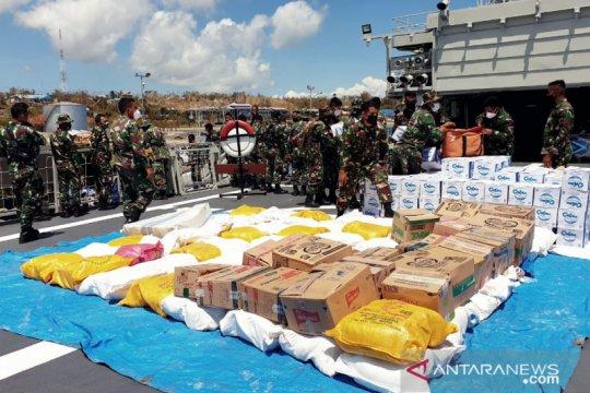TNI kerahkan KRI Ahmad Yani 351 kirim bantuan kemanusiaan ke NTT