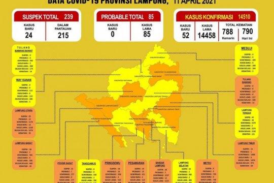 Dinkes catat pasien COVID-19 di Lampung bertambah jadi 14.510