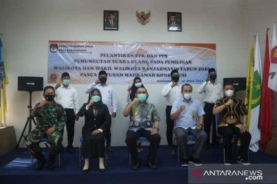 KPU Banjarmasin sudah bentuk PPK dan PPS untuk PSU Pilkada