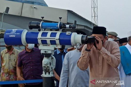 Hilal tak terlihat di Kota Medan karena tertutup awan