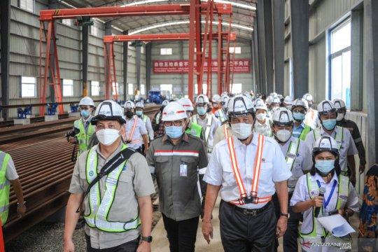 Luhut tinjau Kereta Cepat Jakarta-Bandung,pastikan proyek rampung 2022