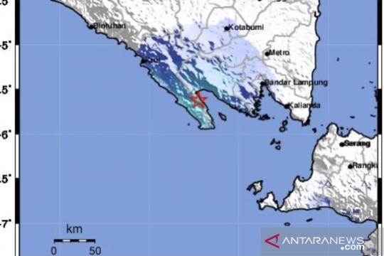 Gempa Lampung M=5,2 akibat aktivitas subduksi, tak berpotensi tsunami