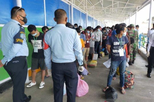 132 TKI dideportasi dari Malaysia tiba di Nunukan