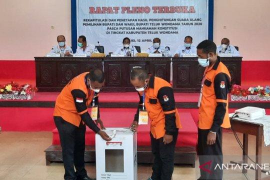 KPU Wondama tetapkan pemenang Pilkada 2020