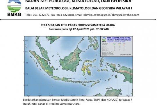 BMKG pantau tujuh titik panas di Sumatera Utara