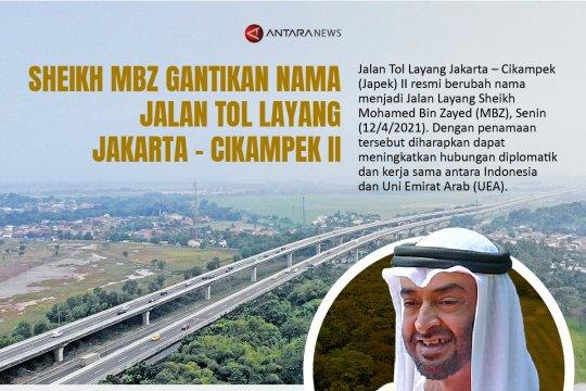 Sheikh MBZ gantikan nama Jalan Tol Layang Jakarta - Cikampek II