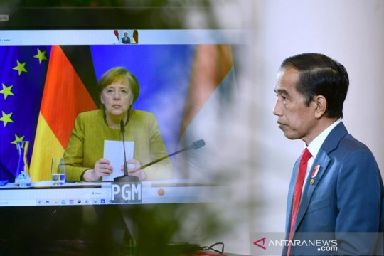 Presiden Jokowi-Kanselir Jerman gelar pertemuan bilateral virtual