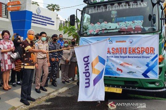 Ganjar lepas ekspor 584 ton produk perikanan asal Jateng