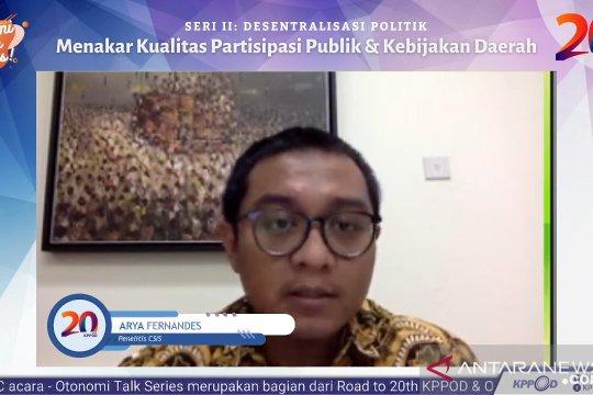 Peneliti CSIS ragukan partai politik akomodasi partisipasi publik