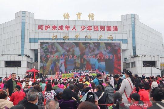 "Warga etnis minoritas Zhuang di Guilin rayakan ""San Yue San"""