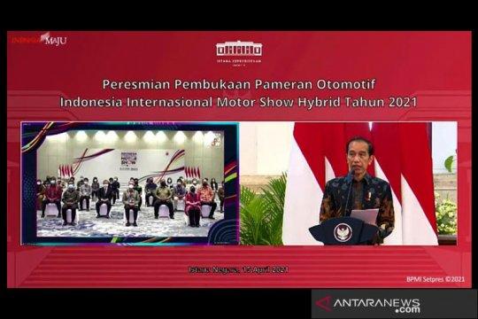 Presiden Jokowi resmi buka gelaran IIMS Hybrid 2021