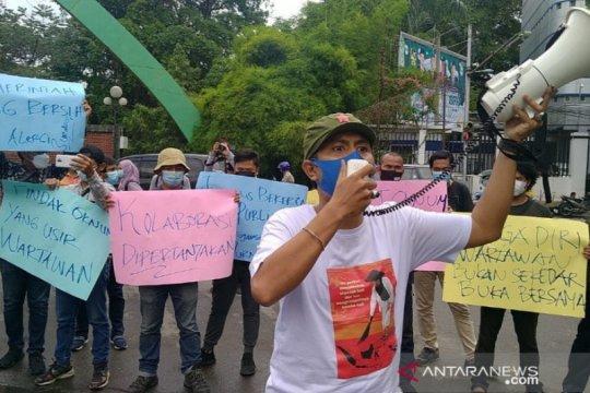 Jurnalis Medan aksi bersama tolak arogansi tim pengamanan Wali Kota