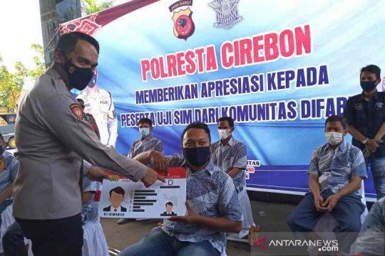 Polresta Cirebon berikan SIM D gratis bagi 13 penyandang difabel