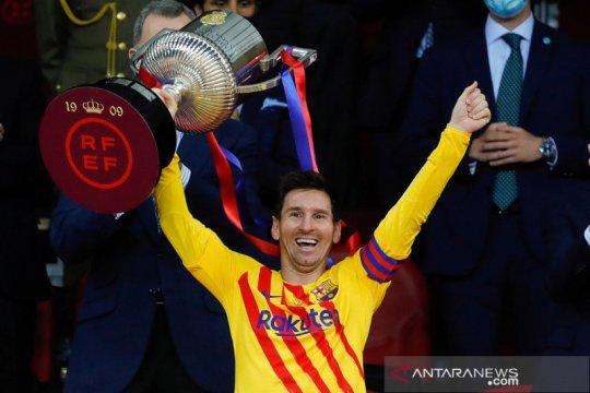 Tumbangkan Athletic Bilbao, Barcelona juara Copa del Rey