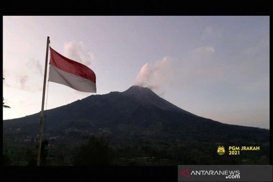 Volume kubah lava di tengah kawah Merapi capai 1,68 juta meter kubik