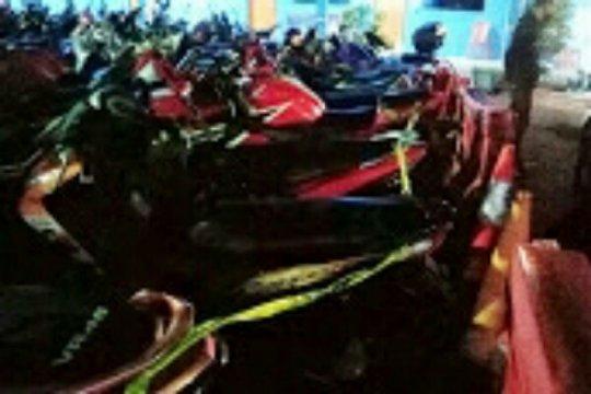 Polres Bitung amankan 21 sepeda motor knalpot bising