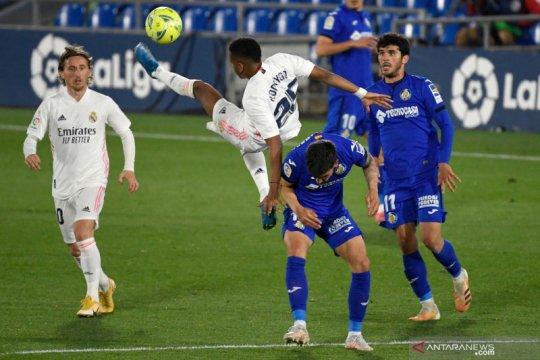 Diimbangi Getafe, Real Madrid gagal pertahankan jarak dengan Atletico