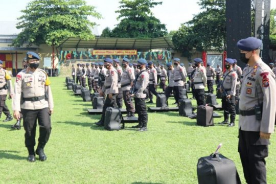 Dua SSK Brimob disiagakan dalam PSU Pilkada Labuhanbatu