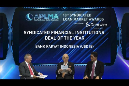 BRI raih penghargaan Syndicated Financial Institution Deal of the Year