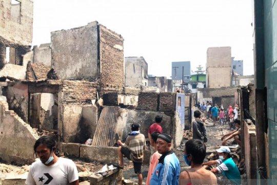 Kebakaran Taman Sari diduga akibat pertengkaran suami istri