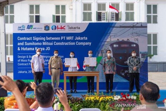 MRT Jakarta teken kontrak Fase Bundaran HI-Kota senilai Rp4,6 triliun