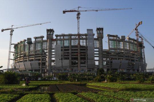 Progres proyek pembangunan Jakarta International Stadium