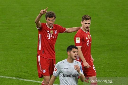 """Bayern Muenchen """"kunci"""" gelar juara Liga Jerman setelah menang lawanLeverkusen 2-0"""