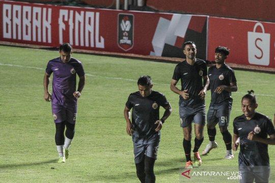 Latihan Persija Jakarta jelang final Piala Menpora