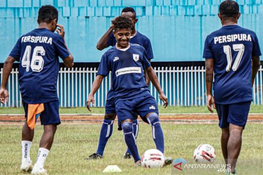 Latihan Persipura jelang Piala AFC 2021
