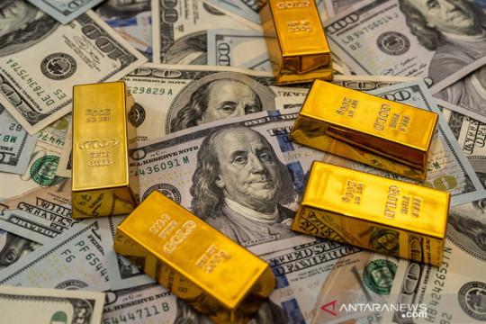 Emas naik 12,4 dolar dipicu kekhawatiran Evergrande, penurunan saham