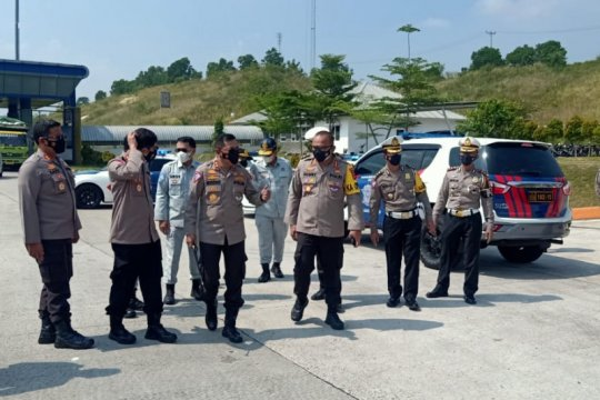 Kakorlantas Polri survei lokasi penyekatan larangan mudik di Lampung