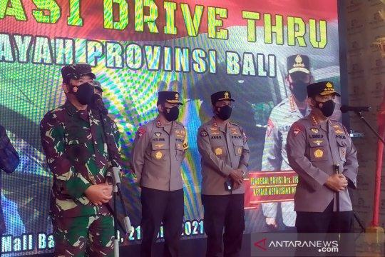 Panglima TNI dan Kapolri tinjau vaksinasi secara drive thru di Bali