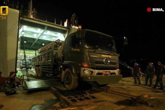 Kapal ADRI bawa bantuan Kasad untuk penanganan banjir NTB telah sampai