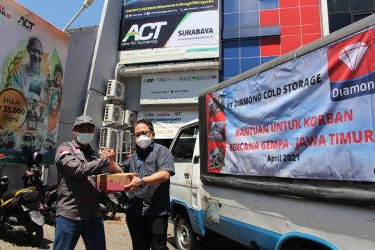 Diamond Cold Storage bantu susu UHT untuk korban gempa Jatim