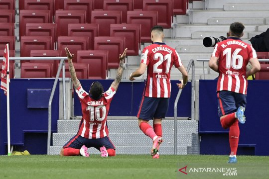 Atletico Madrid kembali geser Real Madrid usai tekuk Huesca 2-0