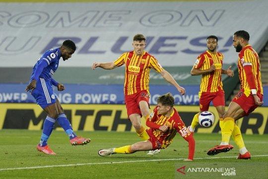 Leicester kembali ke jalur kemenangan saat gasak West Brom 3-0