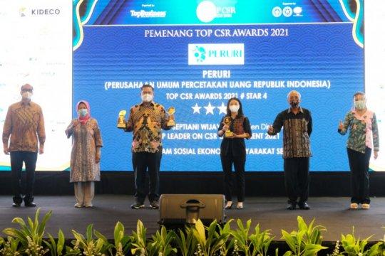 Peruri raih tiga penghargaan TOP CSR Awards 2021