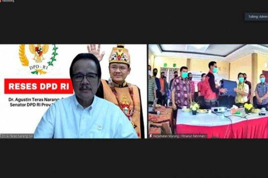 Anggota DPD RI dorong kecamatan-desa di Kalteng buat peta administrasi