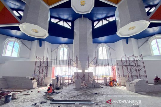 Pembangunan Masjid 99 Kubah kembali dilanjutkan