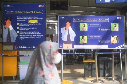 Kedatangan penumpang KA Jarak Jauh di area Jakarta terpantau landai