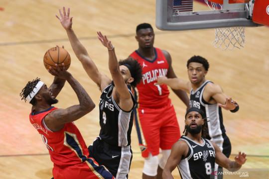 NBA: Pelicans kalah dari tamunya Spurs dengan skor akhir 108-110