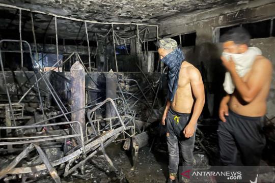 Sedikitnya 42 tewas, 60 terluka dalam kebakaran RS  corona Irak