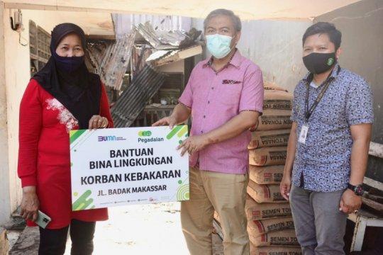 Pegadaian salurkan bantuan untuk korban kebakaran di Jalan Badak