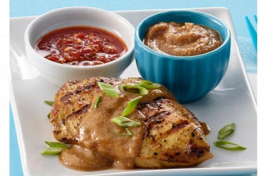 Menu Ramadhan - Chicken with Savory Peanut-Sesame BBQ Sauce