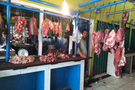Harga daging di Jambi beranjak naik