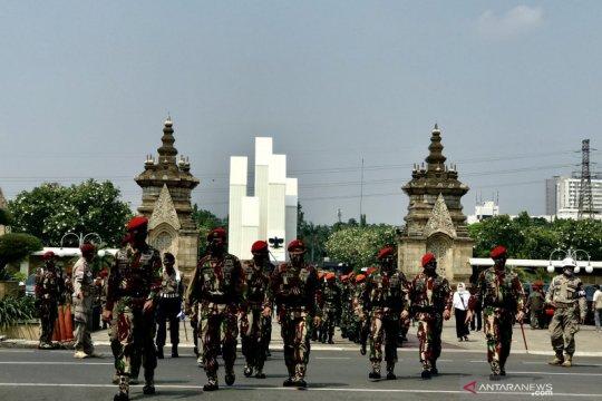 Upacara militer iringi pemakaman Kabinda Papua di TMP Kalibata