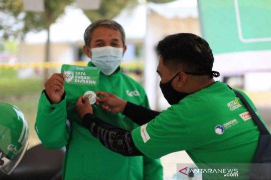Grab tampilkan status vaksinasi mitra pengemudi