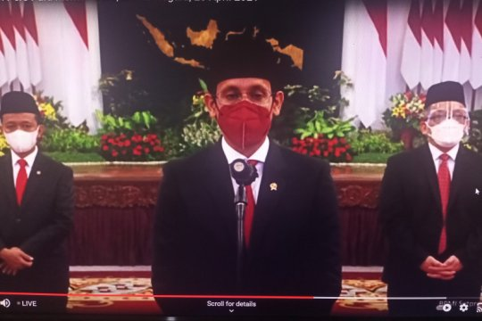 Presiden lantik Nadiem Makarim sebagai Mendikbud-Ristek
