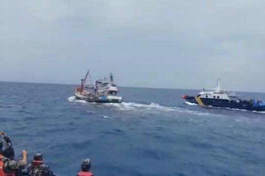 KKP amankan kapal pencuri ikan setelah kejar-kejaran di Natuna Utara