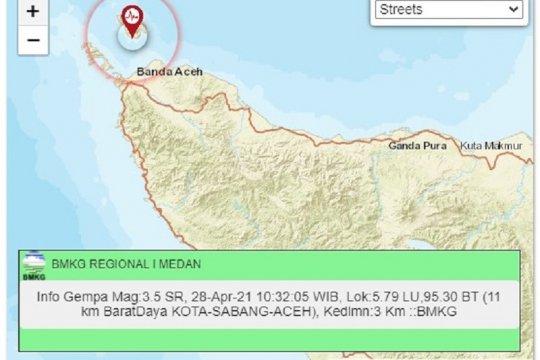 BMKG: Gempa di Sabang disebabkan aktifitas sesar aktif